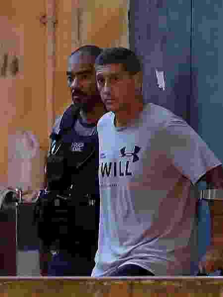 O policial militar Ronnie Lessa, acusado de matar Marielle Franco - Marcelo Theobald/Agência O Globo