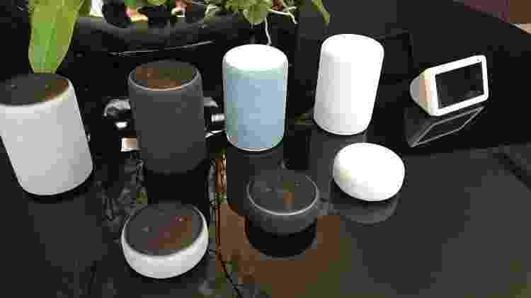 Linha de alto falantes inteligentes Amazon Echo, com a assistente Alexa - Bruna Souza Cruz/UOL - Bruna Souza Cruz/UOL