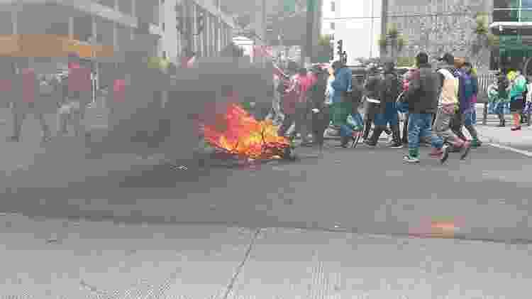 Marchas indígenas ocorreram ao longo da história do Equador - Matías Zibell