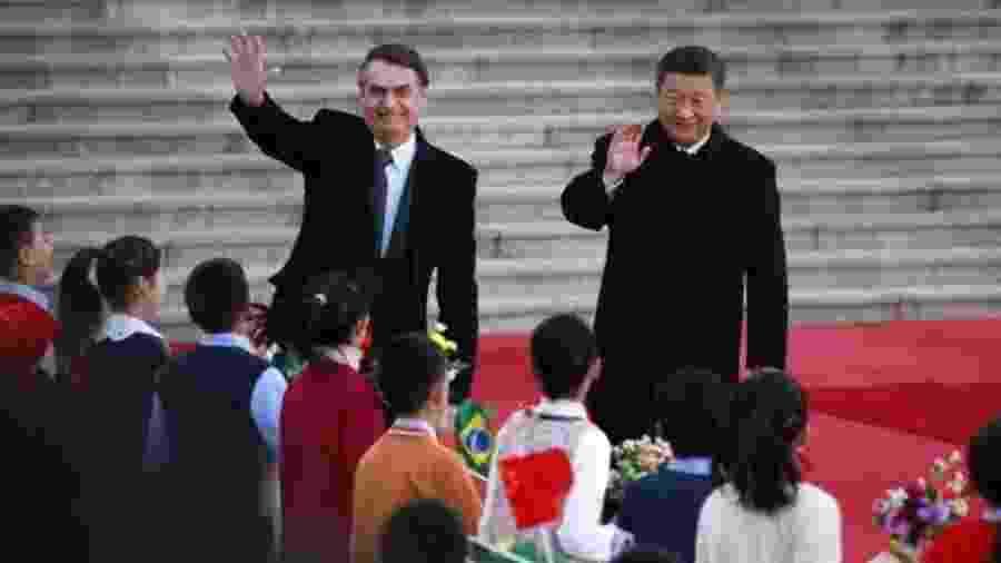 Bolsonaro fez convite a Xi Jinping durante a abertura da reunião bilateral entre os líderes em Pequim, em outubro - EPA