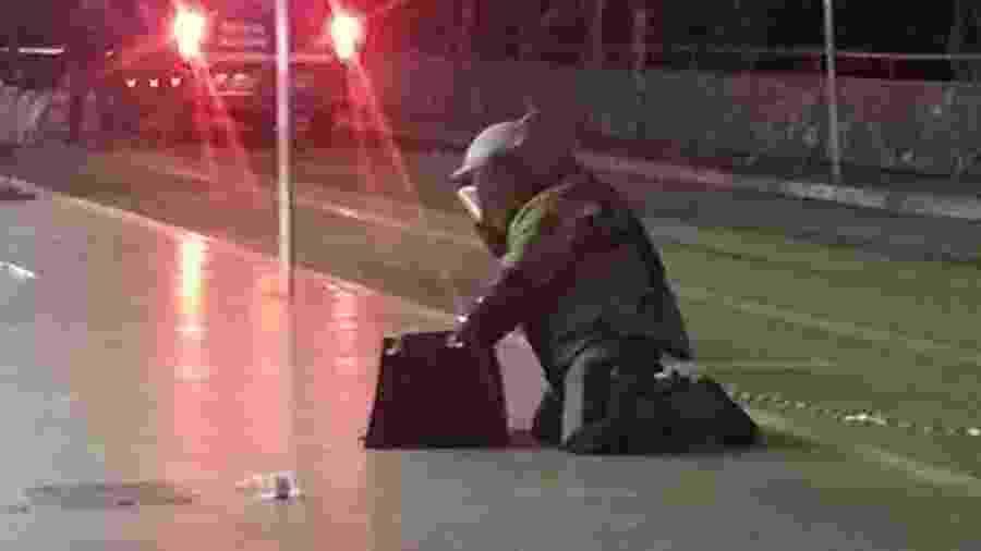 Dinamite foi encontrada na mochila de uma criança em Anápolis (GO) - Divulgação