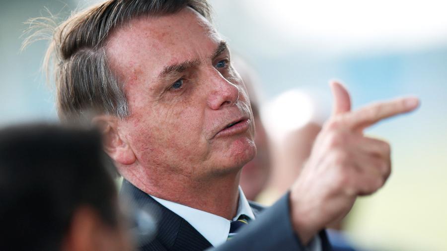 Presidente Jair Bolsonaro em Brasília - Reprodução
