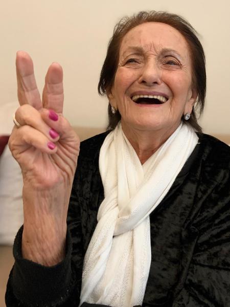 Dona Amalia, 91, esbanja espontaneidade ao ser envolvida nas presepadas do neto    - Arquivo pessoal - Arquivo pessoal
