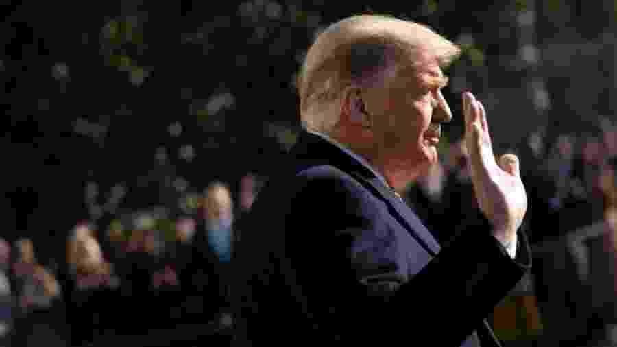 Trump entrou para a história como o único presidente dos EUA a enfrentar dois impeachments - Getty Images