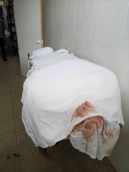 Corpo de vítima de covid-19 em corredor de hospital no Distrito Federal - Arquivo pessoal