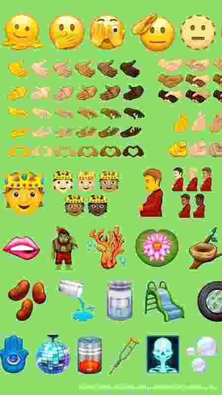 Novos emojis serão lançados em 2021 - Reprodução/Emojipedia - Reprodução/Emojipedia