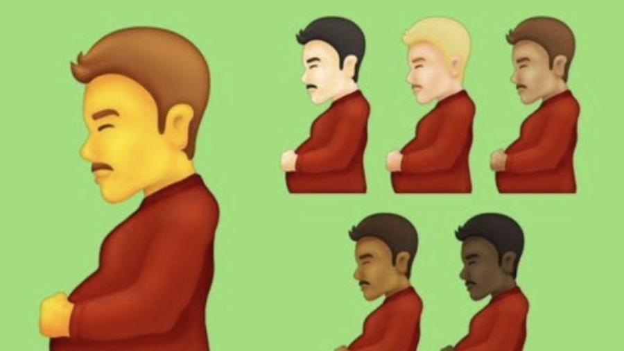 Emoji de homem grávido chama atenção nas redes sociais - Reprodução