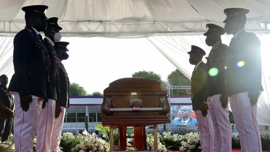 Polícia investiga quem seriam os mandantes do assassinato do presidente do Haiti, Jovenel Moise - VALERIE BAERISWYL / AFP