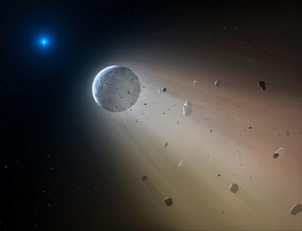 """Cientistas encontram estrela morta """"engolindo"""" planetoide similar à Terra"""
