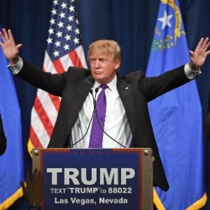Donald Trump é o favorito para representar o Partido Republicano na eleição presidencial - Ethan Miller/Getty Images/AFP
