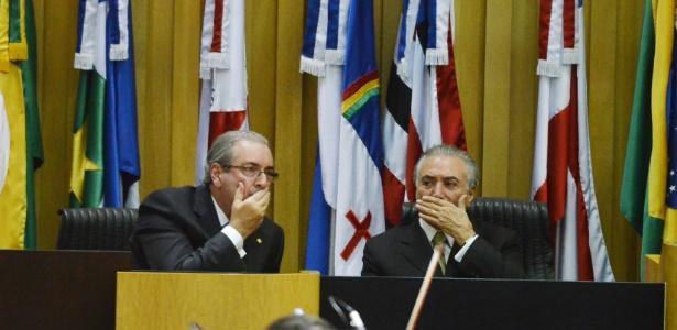 Eduardo Cunha e Michel Temer, ambos do PMDB