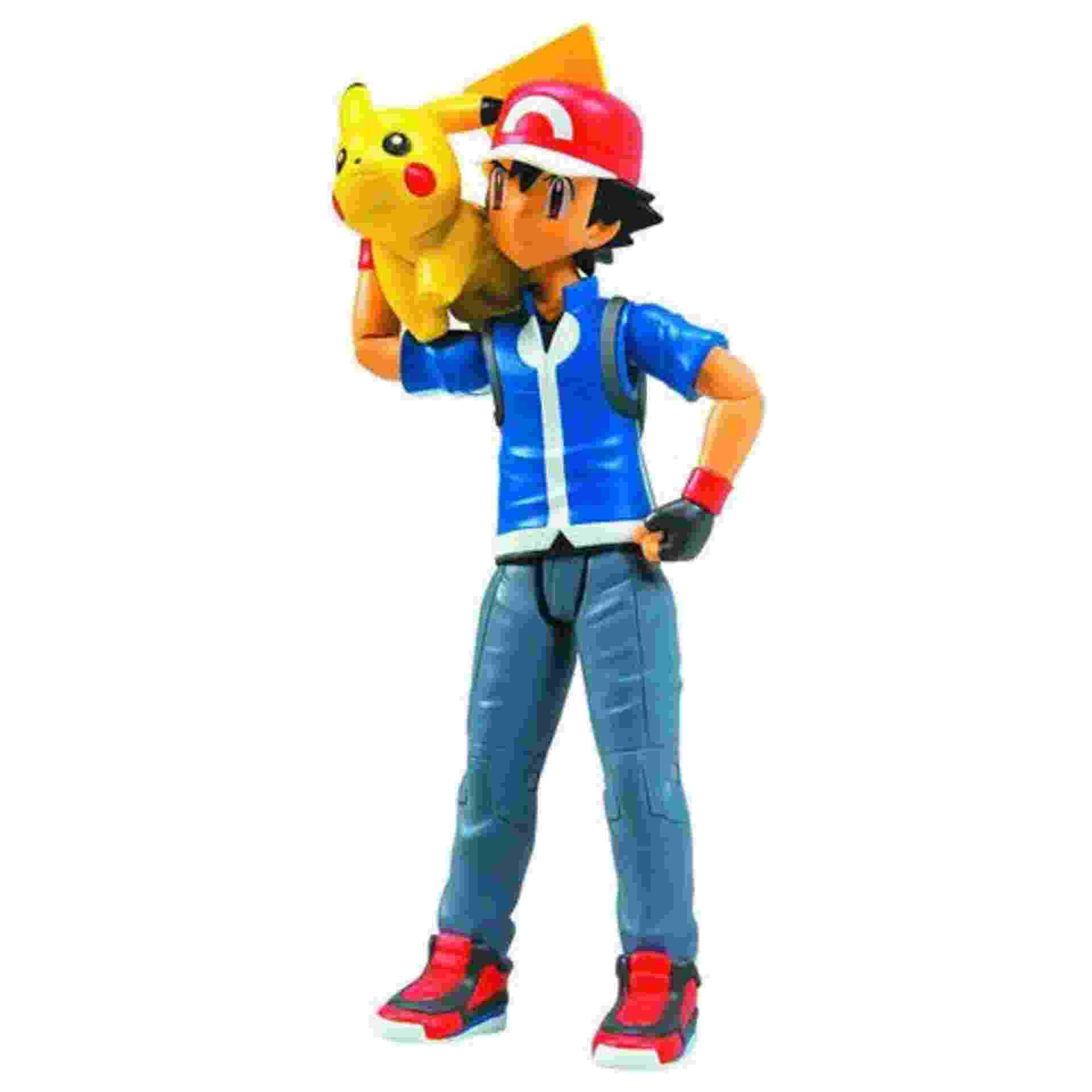 A miniatura do personagem principal do desenho, Ash, com seu fiel pokémon Pikachu sai por R$ 139,90 na Americanas.com - Divulgação