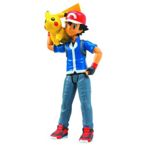 A miniatura do personagem principal do desenho, Ash, com seu fiel pokémon Pikachu sai por R$ 139,90 na Americanas.com