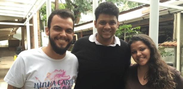 Gabriel Gomes, Lucas Clementino e Michelle Egito, três dos oito integrantes do 'Bastardos da PUC-Rio'