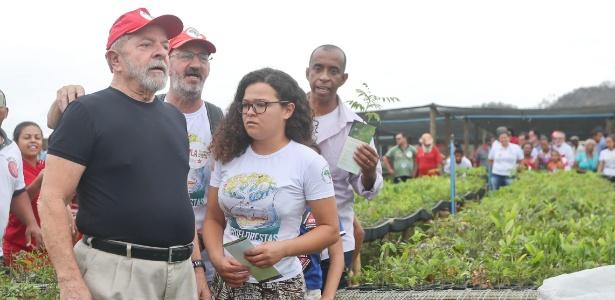 Na terça-feira (24), Lula visitou viveiro de mudas na zona rural de Periquito, a 50km de Ipatinga, no Vale do Aço (MG)