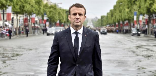 Presidente Emmanuel Macron quer reaquecer o crescimento econômico da França - Alain Jocard/NYT