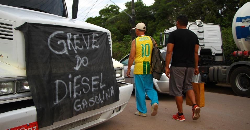 Protesto de Caminhoneiros nesta quinta-feira (24) em Manaus