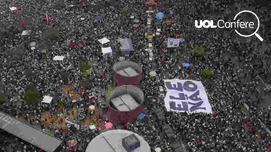 Largo da Batata tomado por multidão no último sábado (29) - Arte/UOL