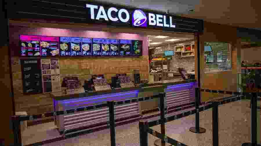 Franquia da Taco Bell no Terminal 2 Oeste do aeroporto de Guarulhos, em São Paulo - Divulgação