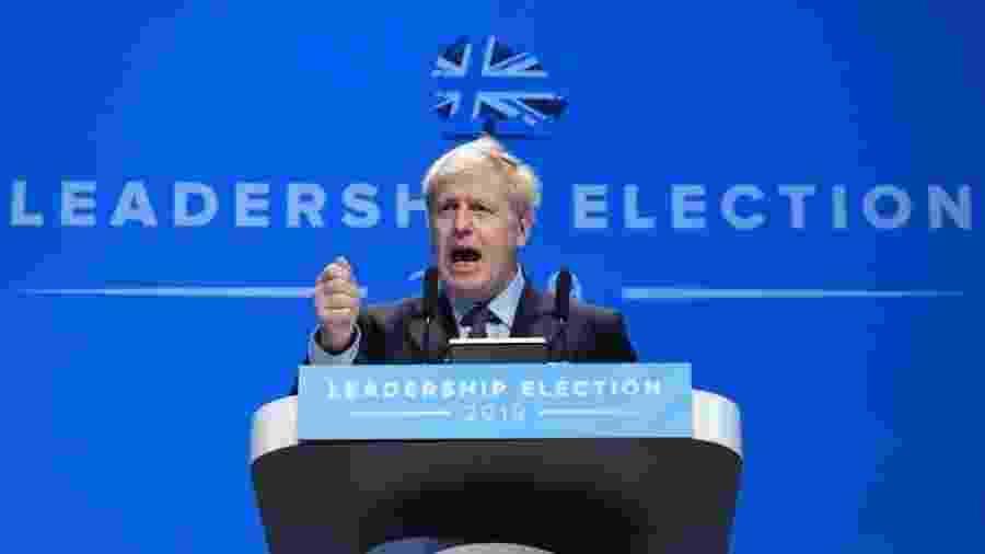 Boris Johnson lidera a corrida pelo governo britânico, mas viu popularidade cair após ser gravado em briga doméstica - EPA