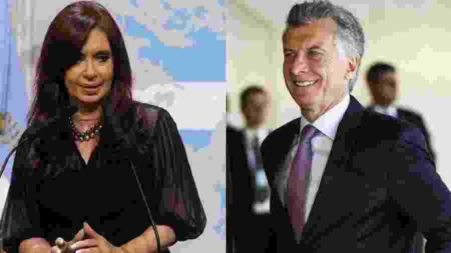 Cristina Kirchner e Mauricio Macri representam a polarização política na Argentina - AFP