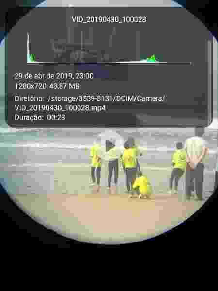 11.dez.2019 - Metadados revelam a data do vídeo original - Reprodução