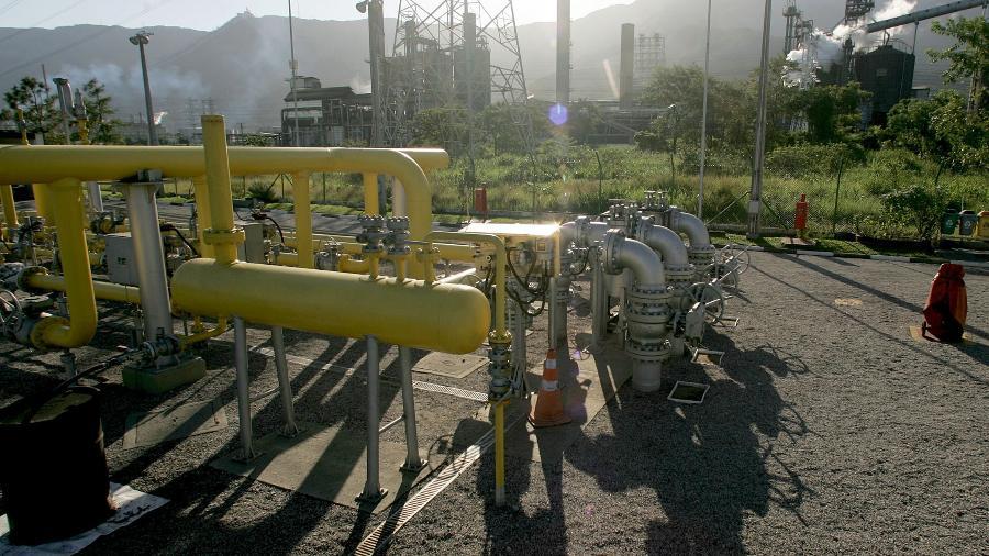 Instalações de gás natural em Cubatão (SP) -