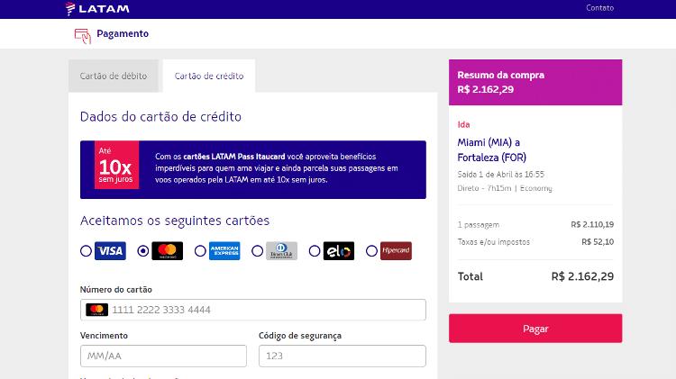 Latam vende passagens para voos diretos nos próximos dias, mas não oferece essas vagas para brasileiros que aguardam para retornar - Reprodução/Site Latam