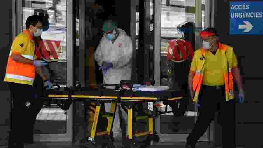 Atendimento médico em Lérida, que vive surto de novos casos de coronavírus - Pau Barrena/AFP