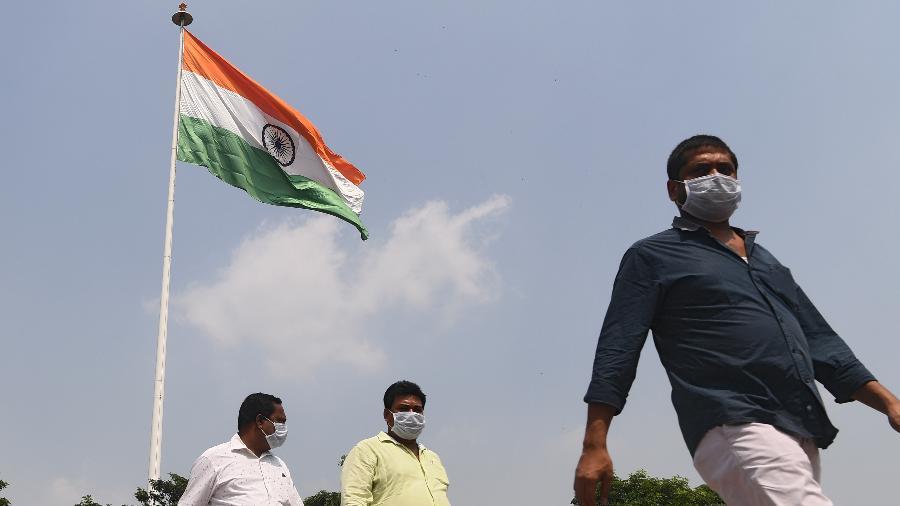 Índia ultrapassa Brasil como 2º país com mais casos de covid-19 no mundo - Sajjad Hussain/AFP
