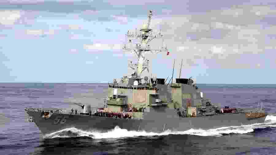 USS John S McCain se envolveu em uma colisão com um petroleiro em 2017 - Getty Images