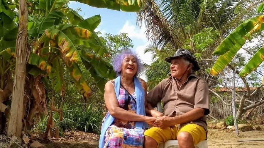 Antônia Rodrigues e Olavo Oliveira da Silva se reencontraram no ano passado - Arquivo Pessoal