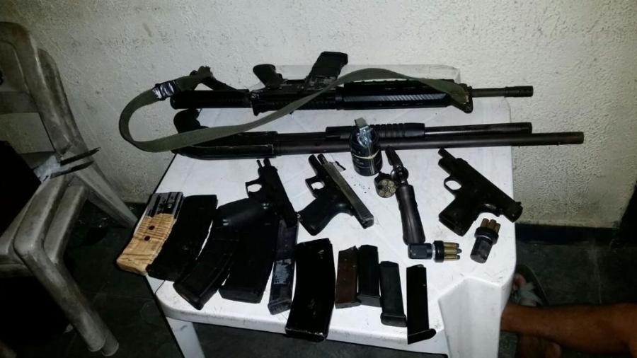 Armas apreendidas em investigação que antecedeu Operação Maleficus - Divulgação/Polícia Federal