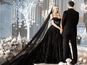 Vestido de noiva gótico no AliExpress - Divulgação/AliExpress - Divulgação/AliExpress