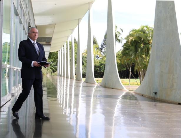 O presidente, Michel Temer, no Palácio da Alvorada, em Brasília - Adriano Machado/Reuters/22.dez.2016