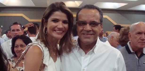 O ex-ministro Henrique Eduardo Alves (PMDB-RN) e sua mulher, Laurita Arruda