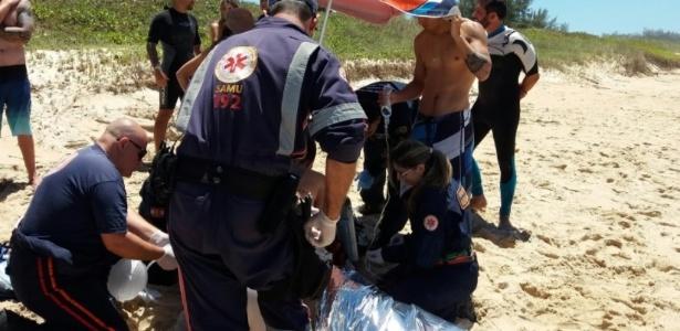 Equipe de resgate tenta reanimar André Luft