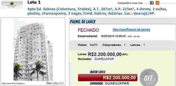 O novo dono também terá que arcar com quase R$ 150 mil em dívidas - Reprodução/Canal Judicial