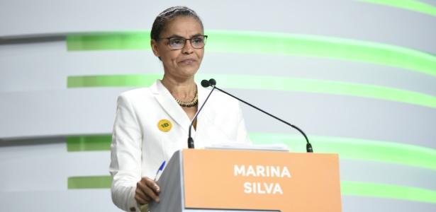 20.set.2018 - Marina Silva durante debate da TV Aparecida