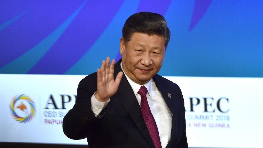 Presidente chinês, Xi Jinping, após seu discurso na cúpula do Fórum de Cooperação Ásia-Pacífico (Apec) realizada em Papua Nova Guiné - Peter Parks/AFP Phogo