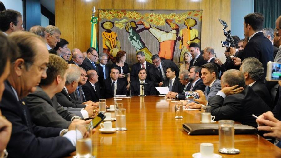 Presidente da Câmara, Rodrigo Maia, recebe o presidente Jair Bolsonaro - Luis Macedo 20.02.2019 /Câmara dos Deputados