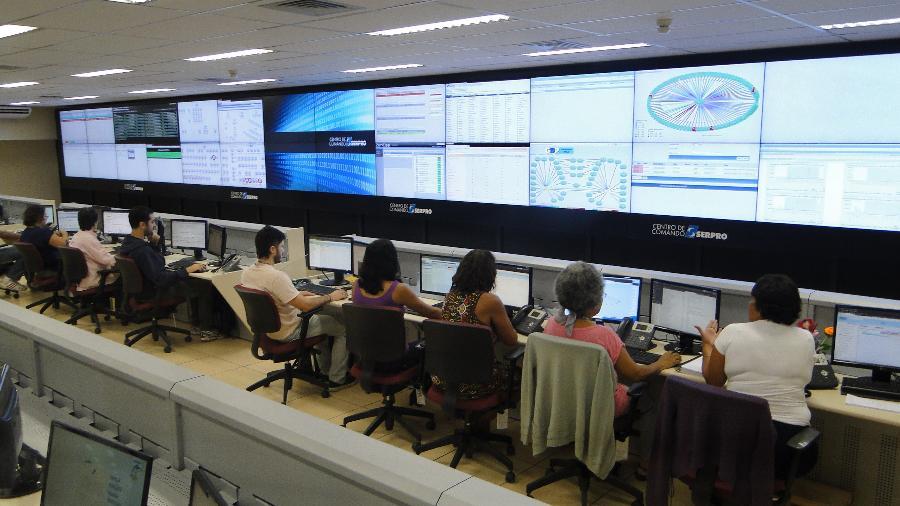 Centro de Dados do Serpro, em Brasília - Divulgação