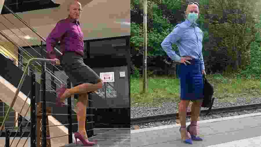 Mark conta que começou a usar saia com salto alto nos últimos cinco anos - Reprodução/Instagram/@markbryan911