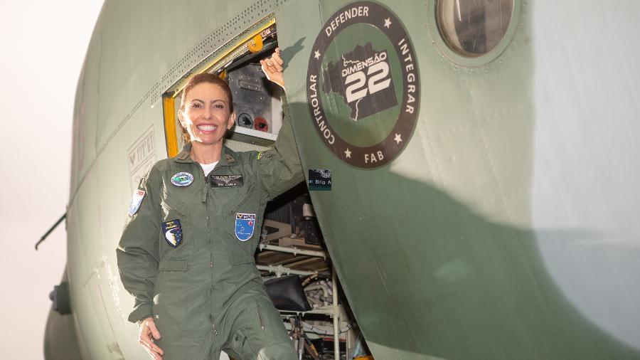 Brigadeiro Carla Lyrio, primeira mulher a assumir o posto na FAB   - Sargento Johnson/ Força Aérea Brasileira