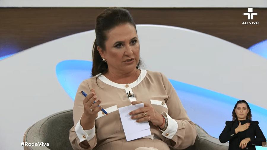 A senadora Kátia Abreu (PP-TO) defendeu a necessidade de esforços diplomáticos para a obtenção de vacinas contra a covid-19 - Reprodução/TV Cultura