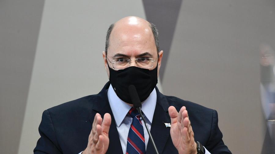 Ex-governador do Rio de Janeiro, Wilson Witzel, durante depoimento na CPI da Covid - Jefferson Rudy/Agência Senado