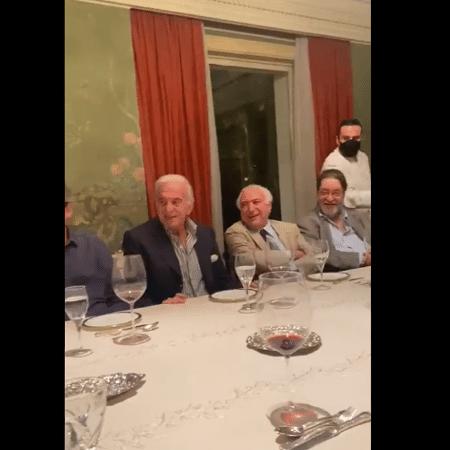 Naji Nahas, Michel Temer e Antônio Carlos Pereira - Reprodução - Reprodução