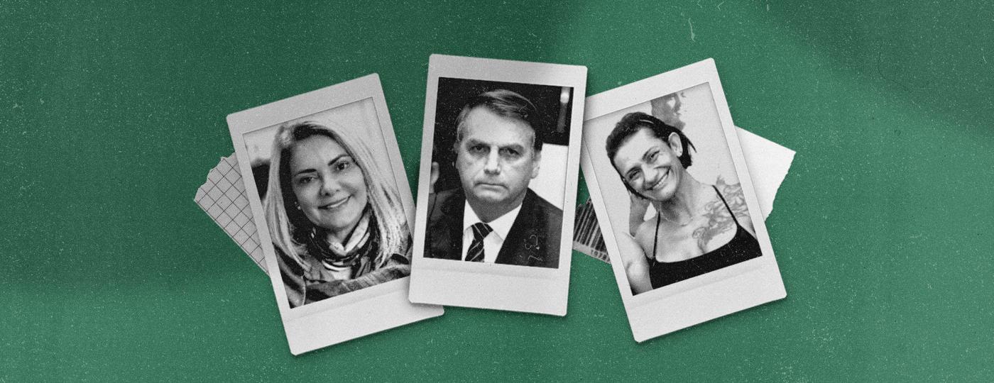 A advogada Ana Cristina Valle, ex-mulher de Jair Bolsonaro, e sua irmã Andrea Valle -
