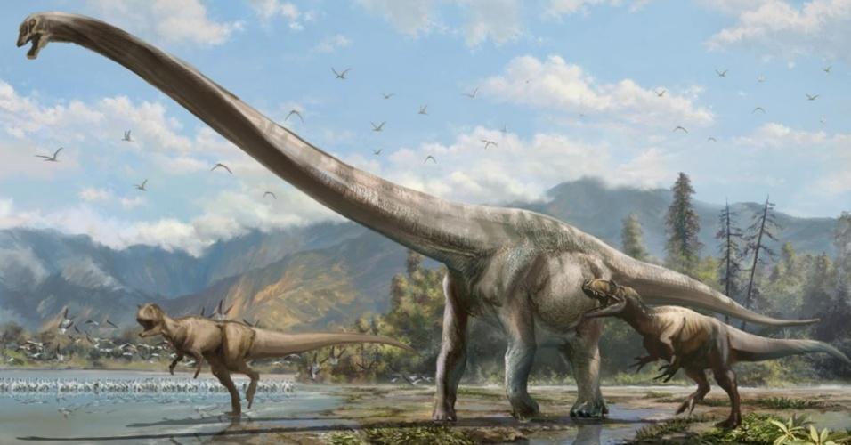Um time de paleontologistas do Japão, China e Canadá descobriu uma nova espécie de dinossauro do grupo dos saurópodes: Qijianglong guokr (traduzido como