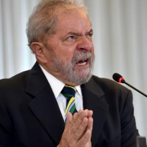 O ex-presidente Lula durante entrevista em São Paulo